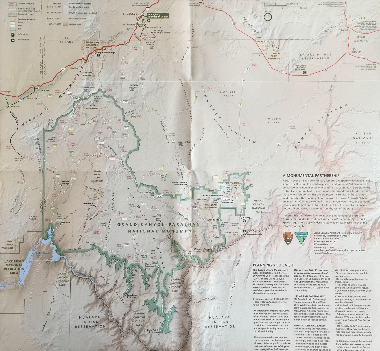Map Of Arizona Strip.Grand Gulch Mine