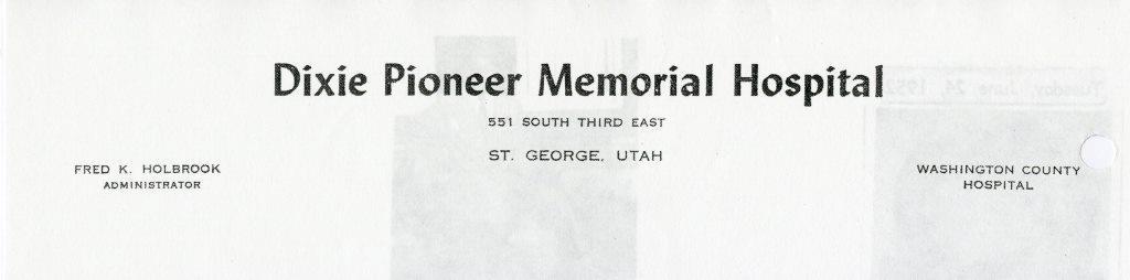 Dixie Pioneer Memorial Hospital In St George Utah
