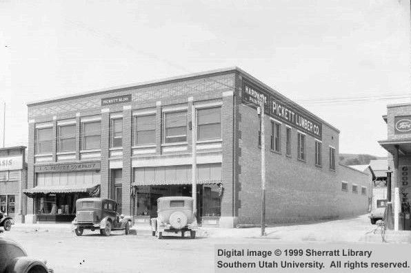 Pickett Lumber Company building in St. George