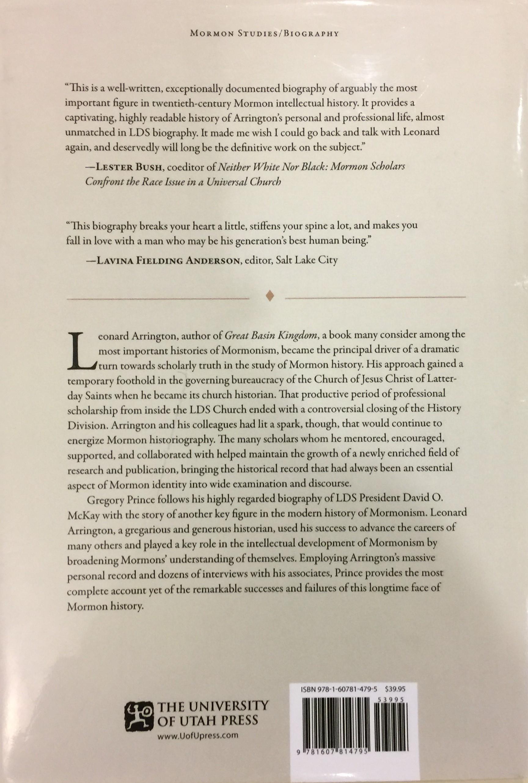 Book Leonard Arrington And The Writing Of Mormon History