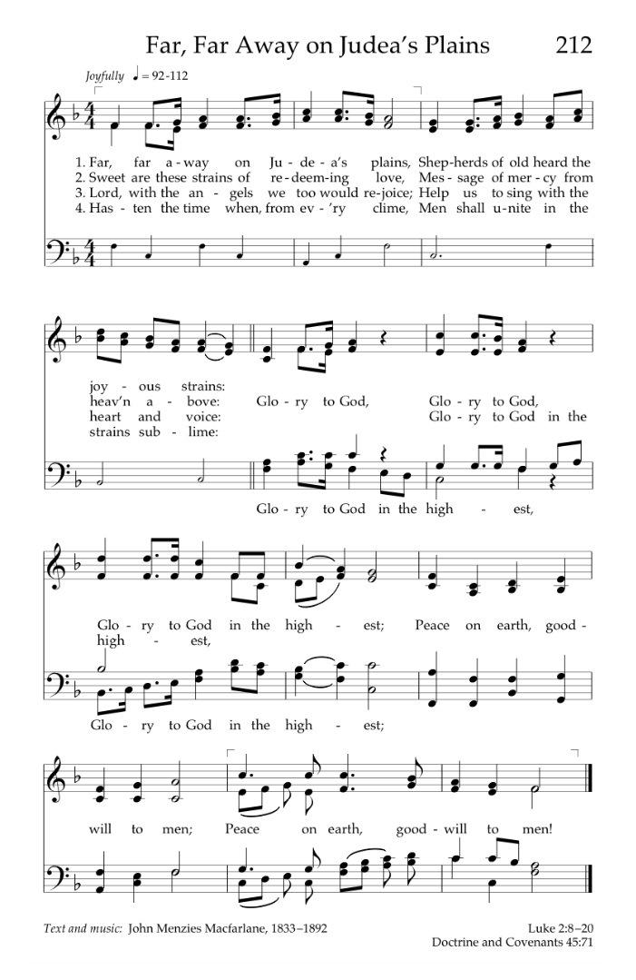 All Music Chords plain sheet music : Christmas Carol: Far, Far Away on Judea's Plains