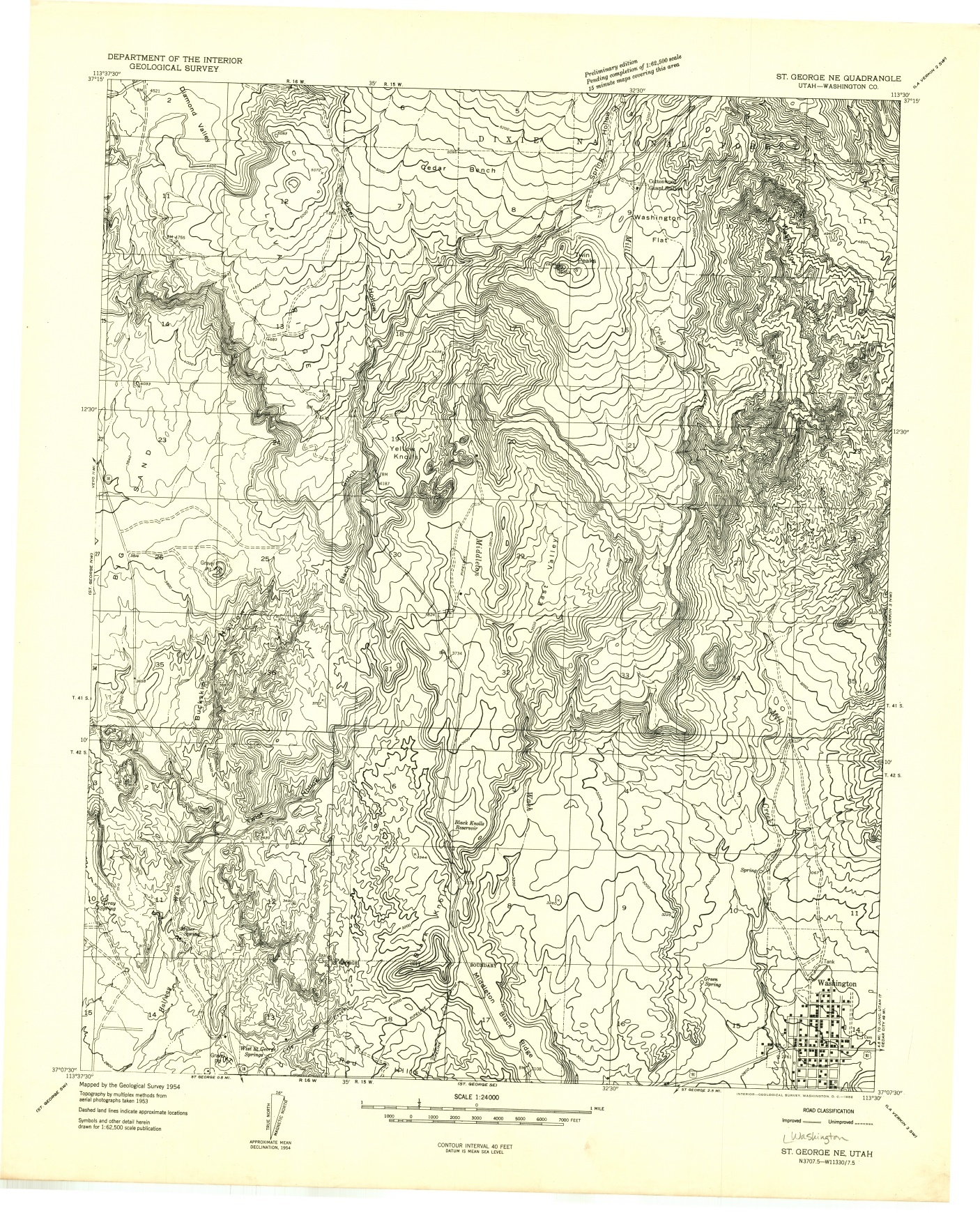 Washington County Maps And Charts - Us topographic road map