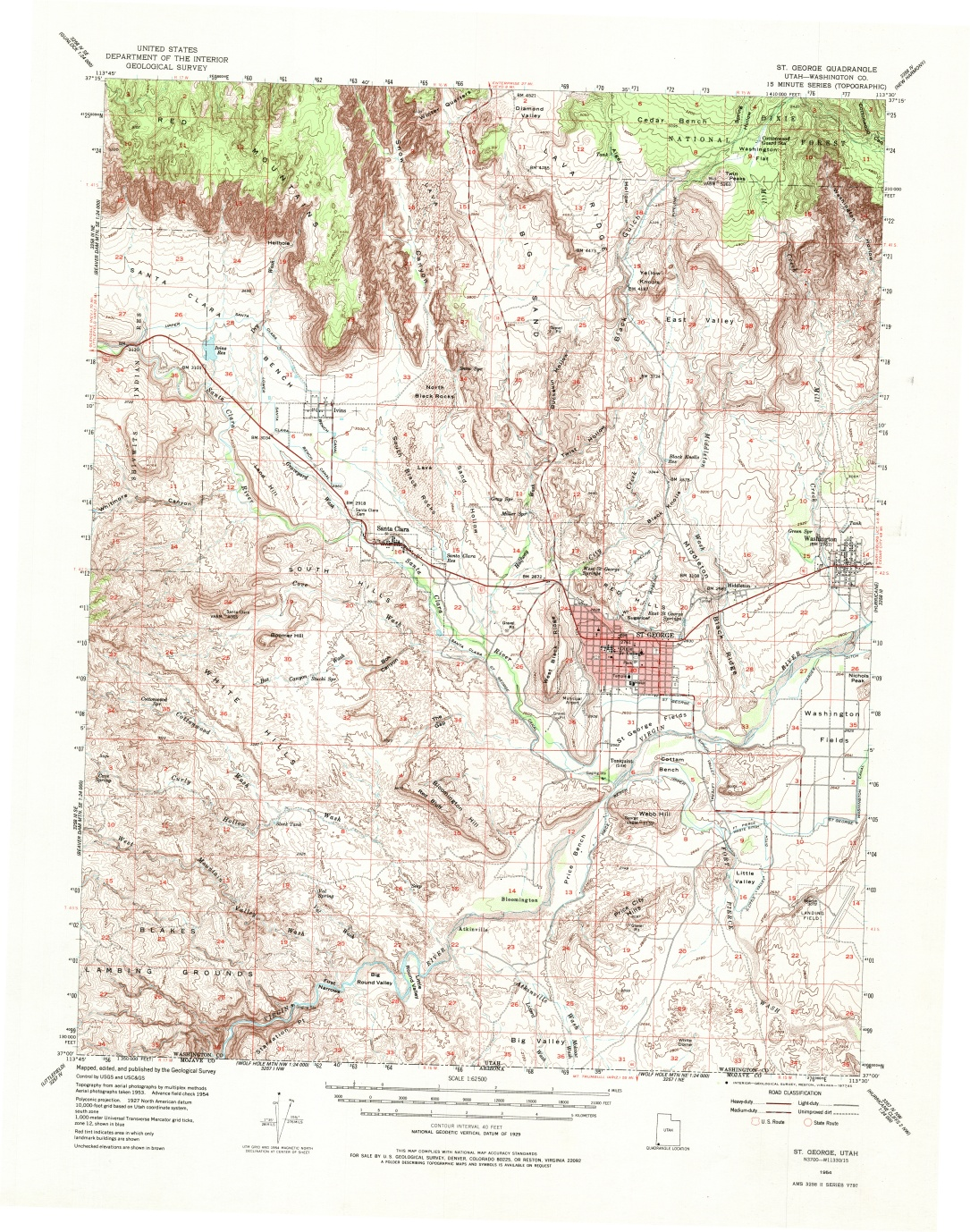 usgs map of st george ·  usgs map of st george and washington · street map of st george from the telephone book. washington county maps and charts