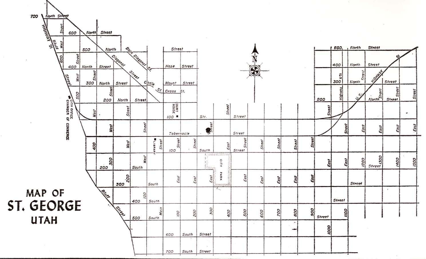 1961 St George Street Map