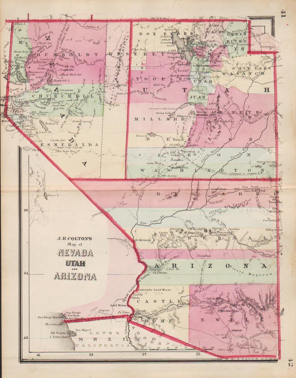 Map Of Utah Arizona.Washington County Maps And Charts
