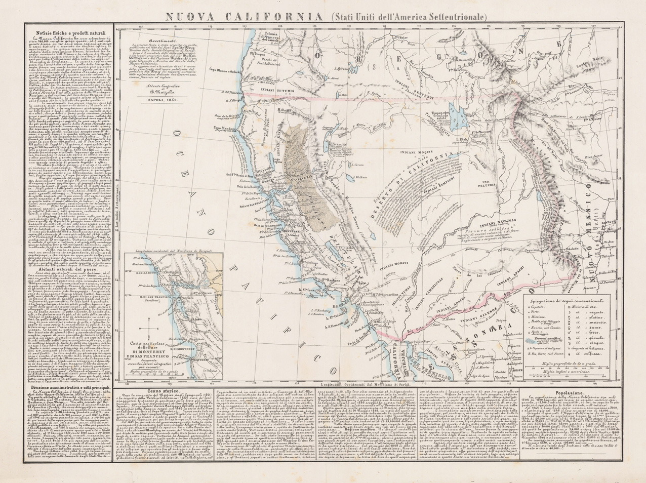 1851 map of new california