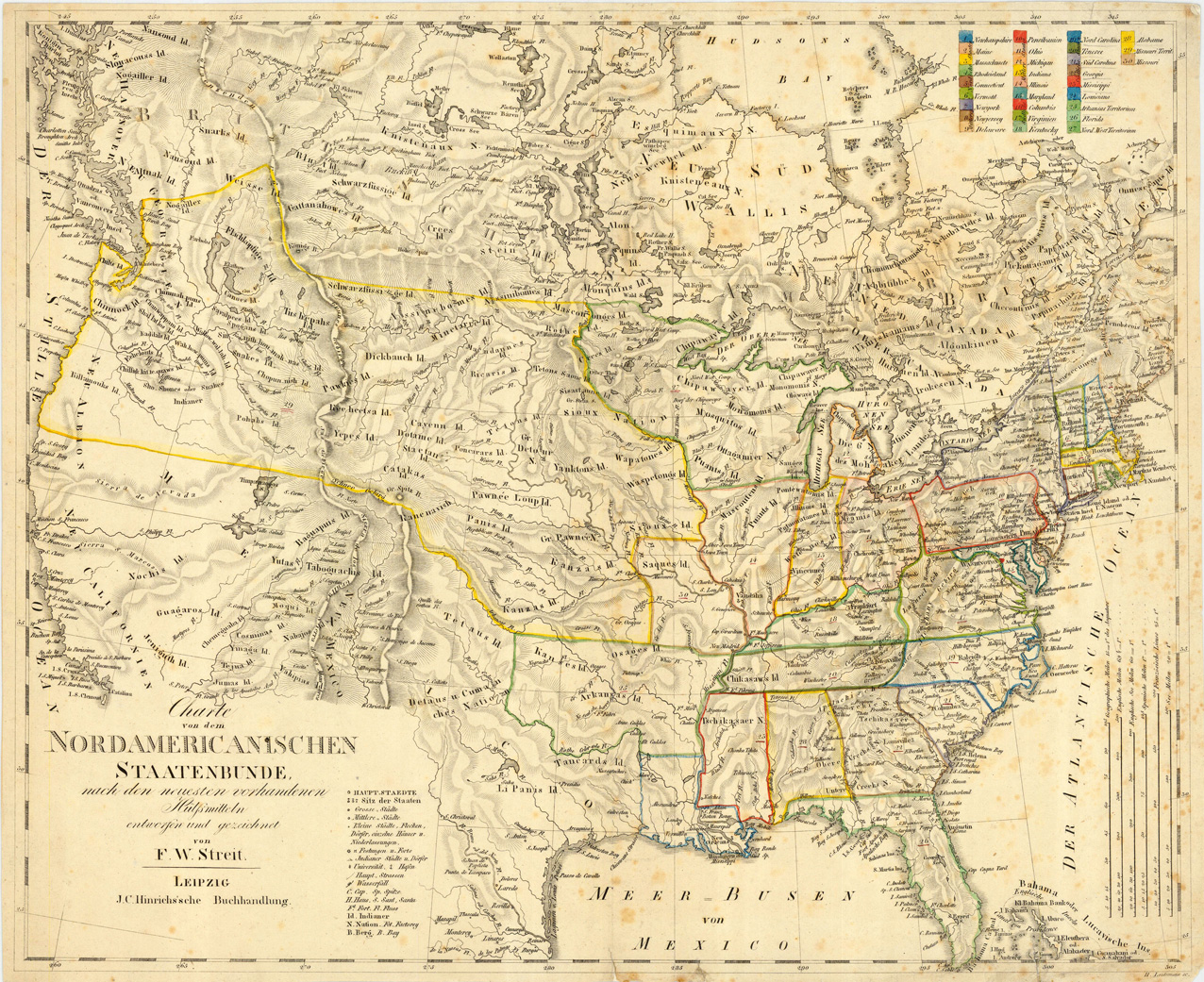 Washington County Maps And Charts - Map of us in 1823