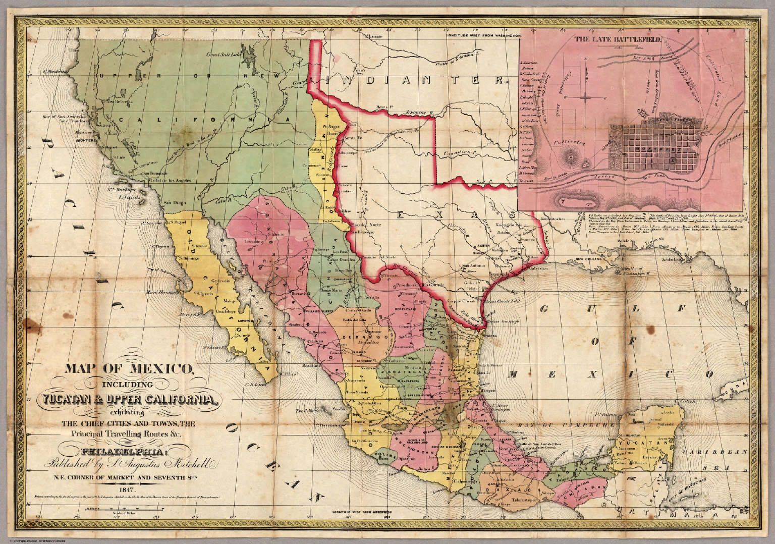 Mexico Map 1850.Washington County Maps And Charts