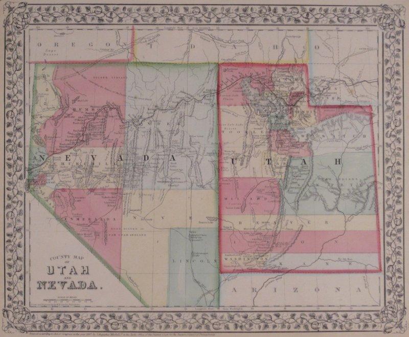 Map Of Nevada Utah And Arizona.Washington County Maps And Charts