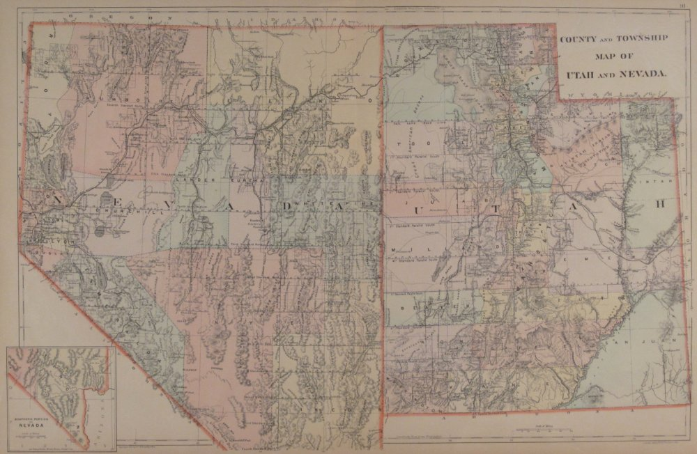 1890 usgs drainage map of the western us utah nevada arizona around 1900