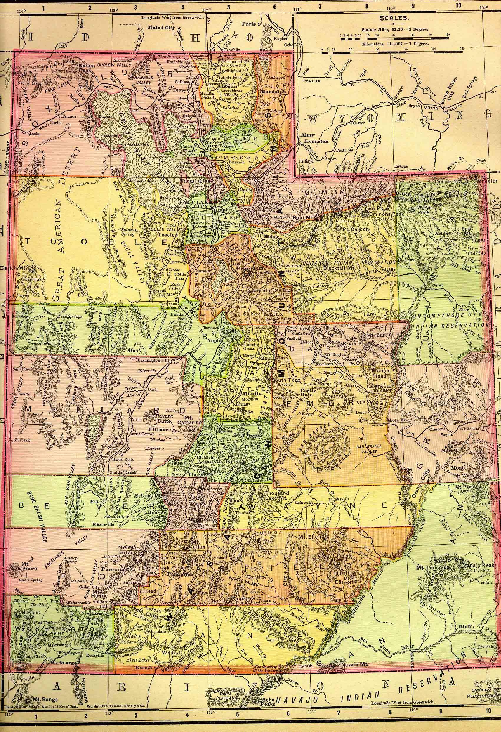 Washington County Maps And Charts - Road map of utah