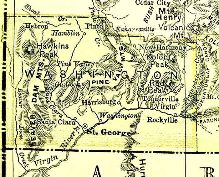 County Utah Map.Washington County Maps And Charts