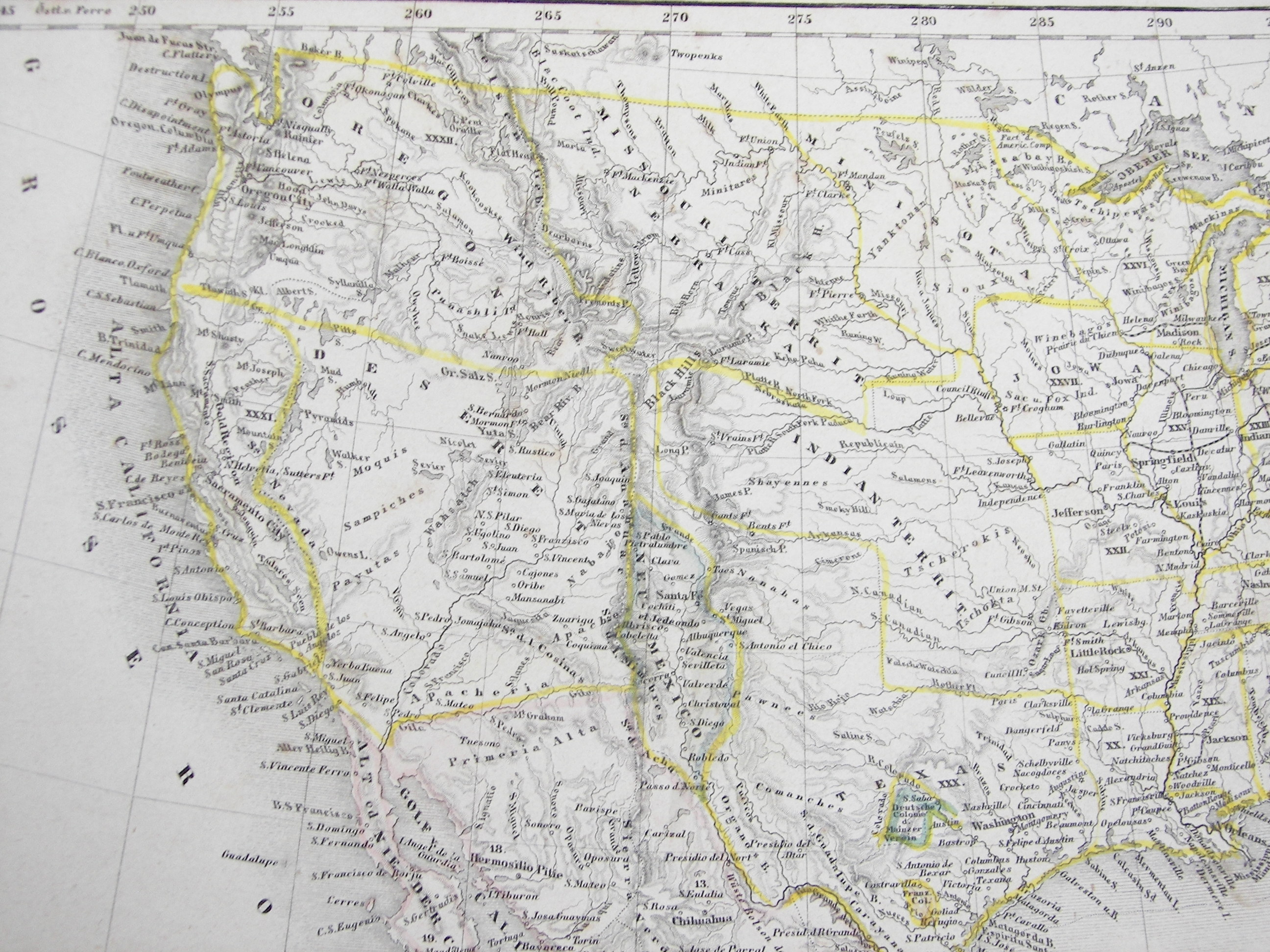 Washington County Maps And Charts - 1850 map of us