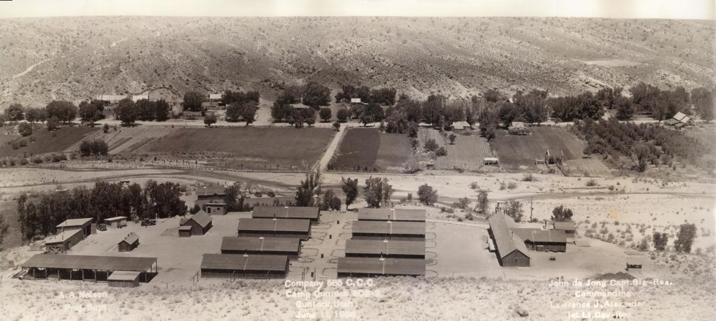 Gunlock CCC Camp in 1936