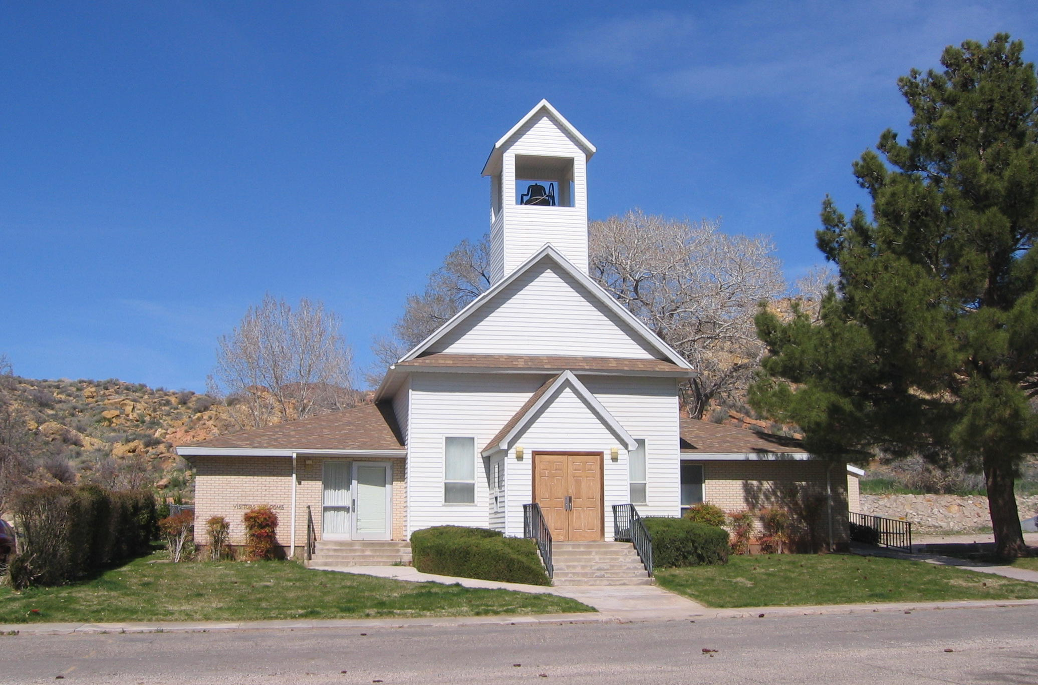 Front of the old Gunlock church