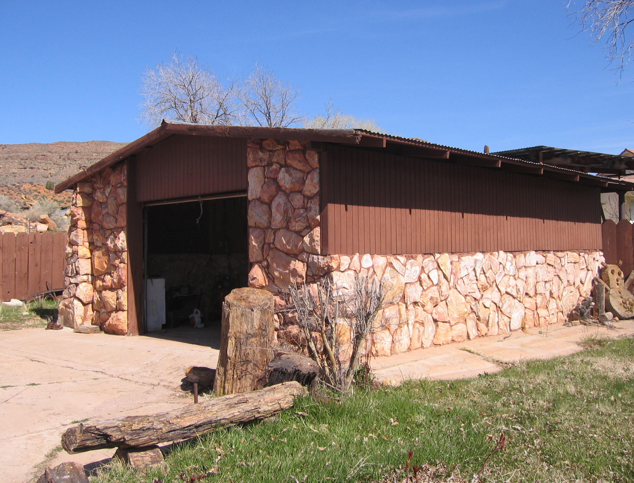 Garage at the Holt Home