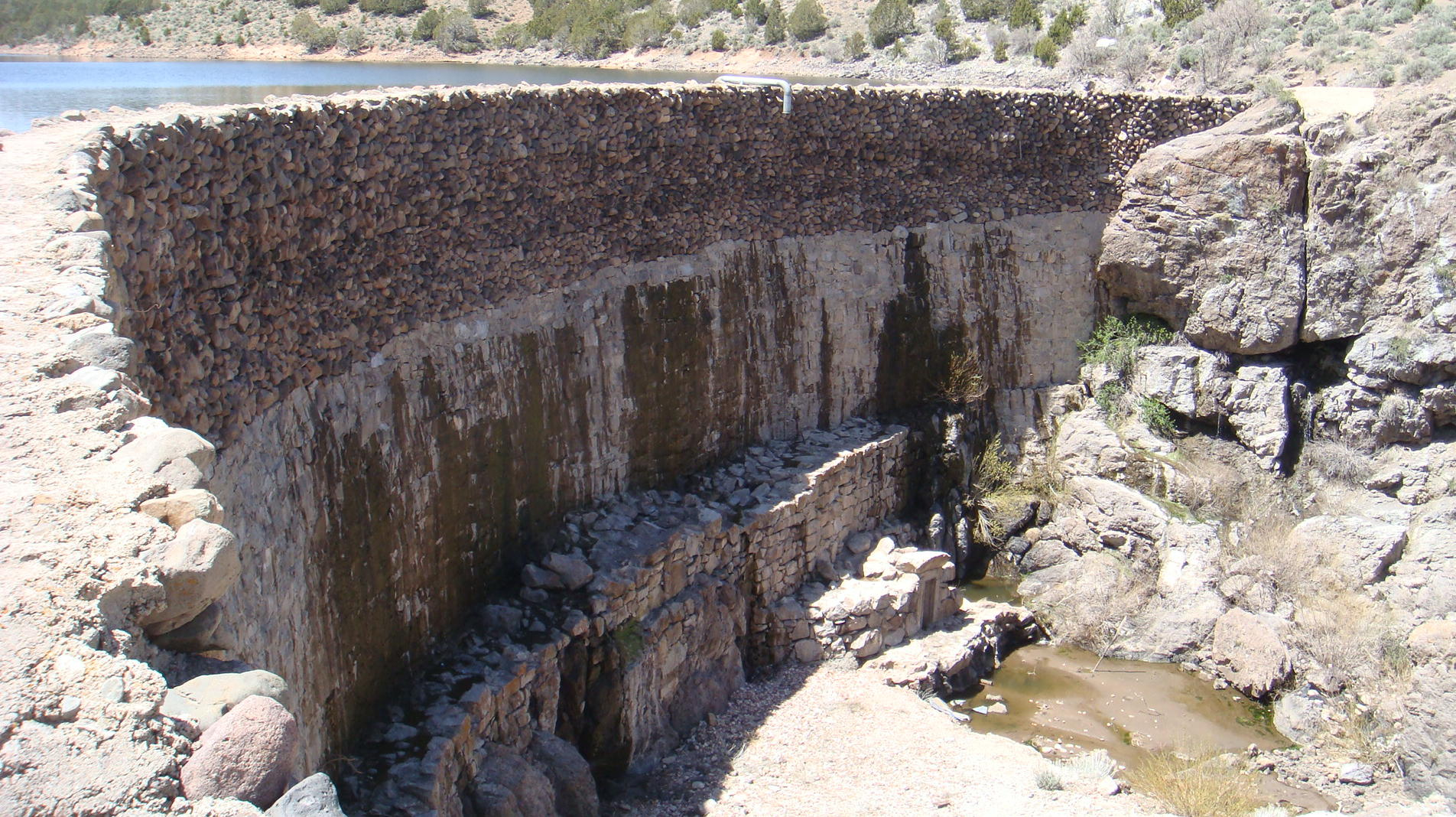 Downstream Side of the Enterprise Dam