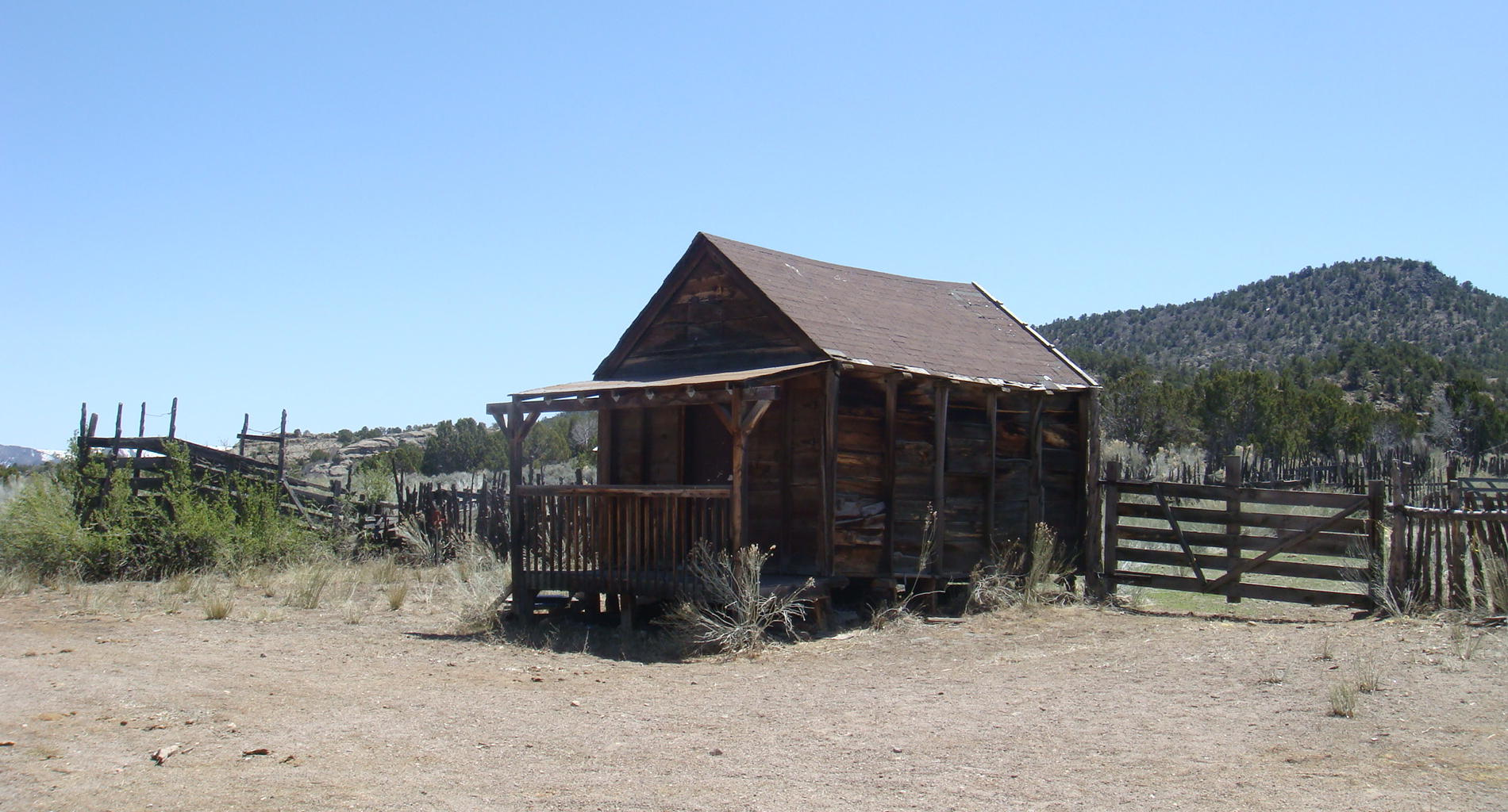Cabin and Corrals at the Terry Ranch