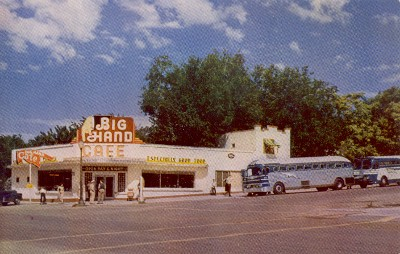 Big Hand Cafe in the 1950s