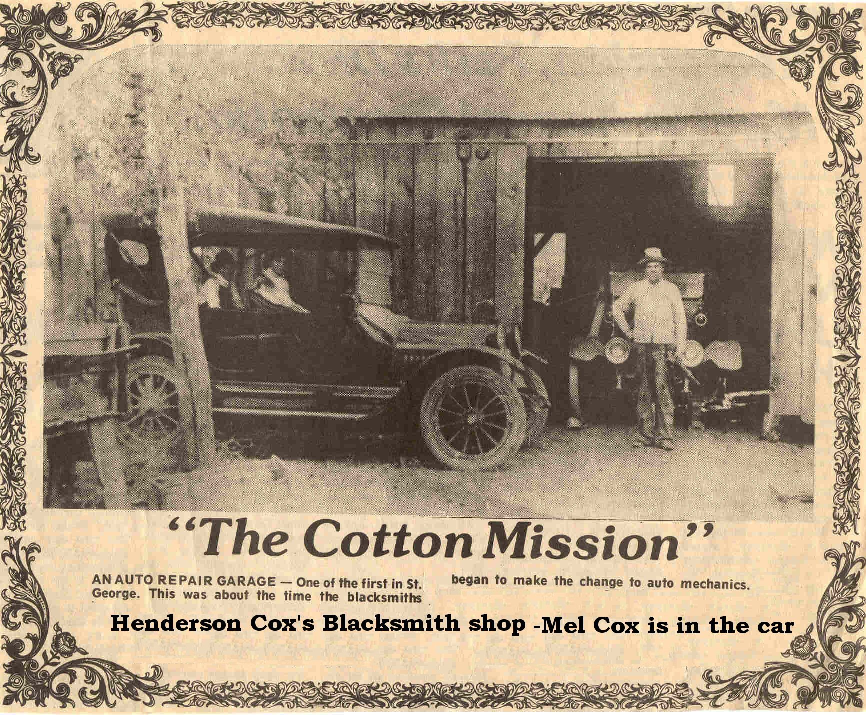 Henderson Cox's blacksmith shop