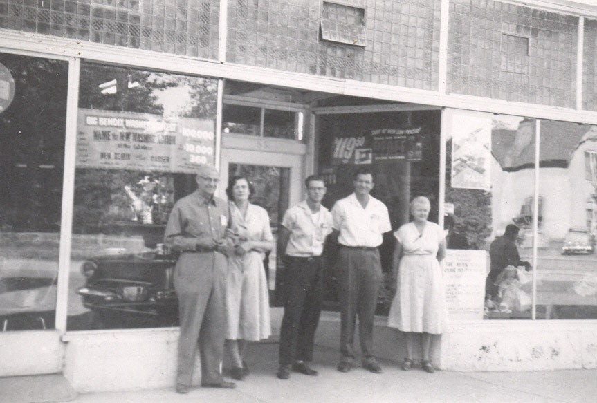 Staff in front of the Arrowhead Department Store