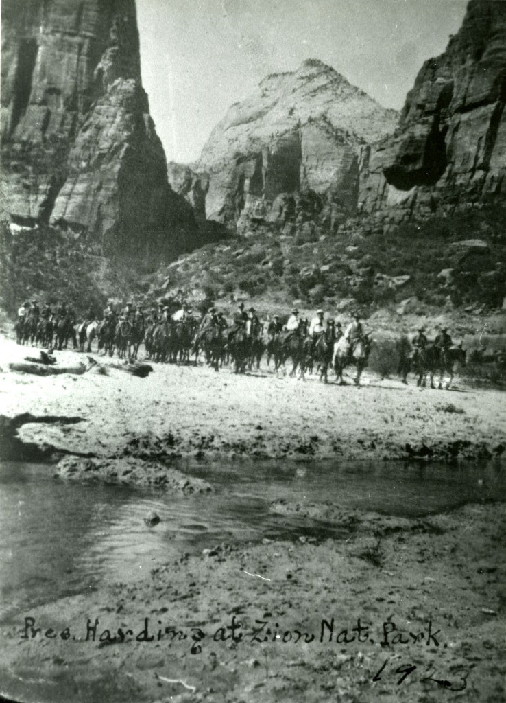 President Harding and his entourage in Zion National Park