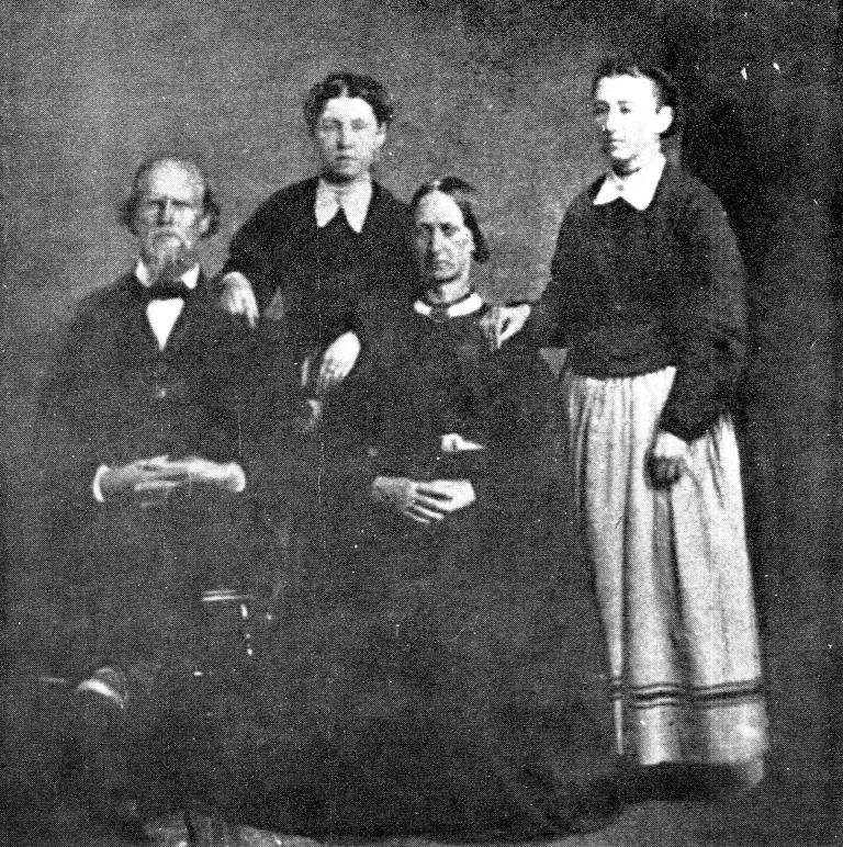 Levi Savage Jr. with 3 of his 4 wives