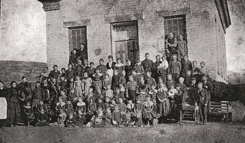 People in front of the Third Ward School