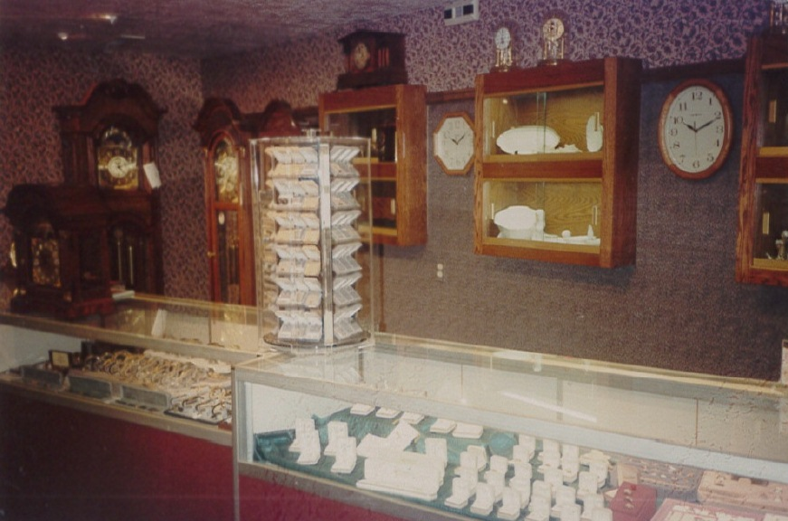 Inside the store in 1960