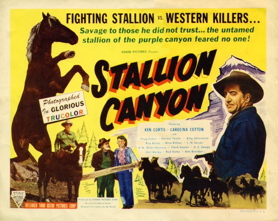 Lobby poster for the Movie, Stallion Canyon
