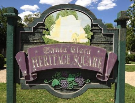 Santa Clara Heritage Square Sign