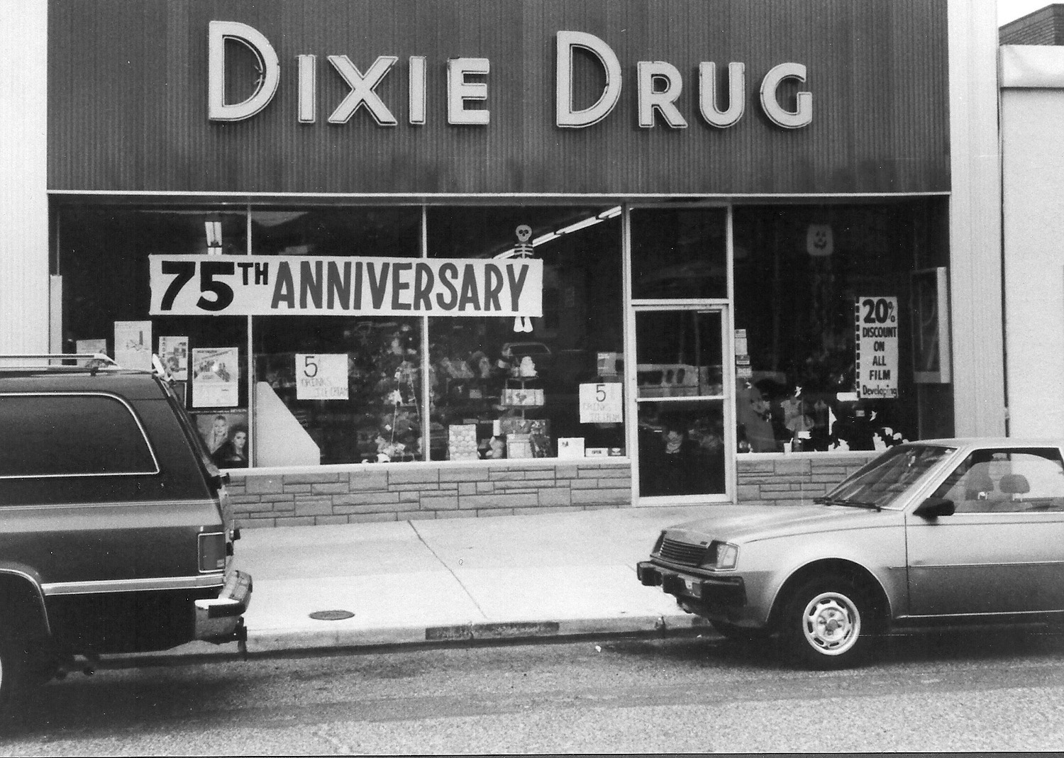 Front of the Dixie Drug store