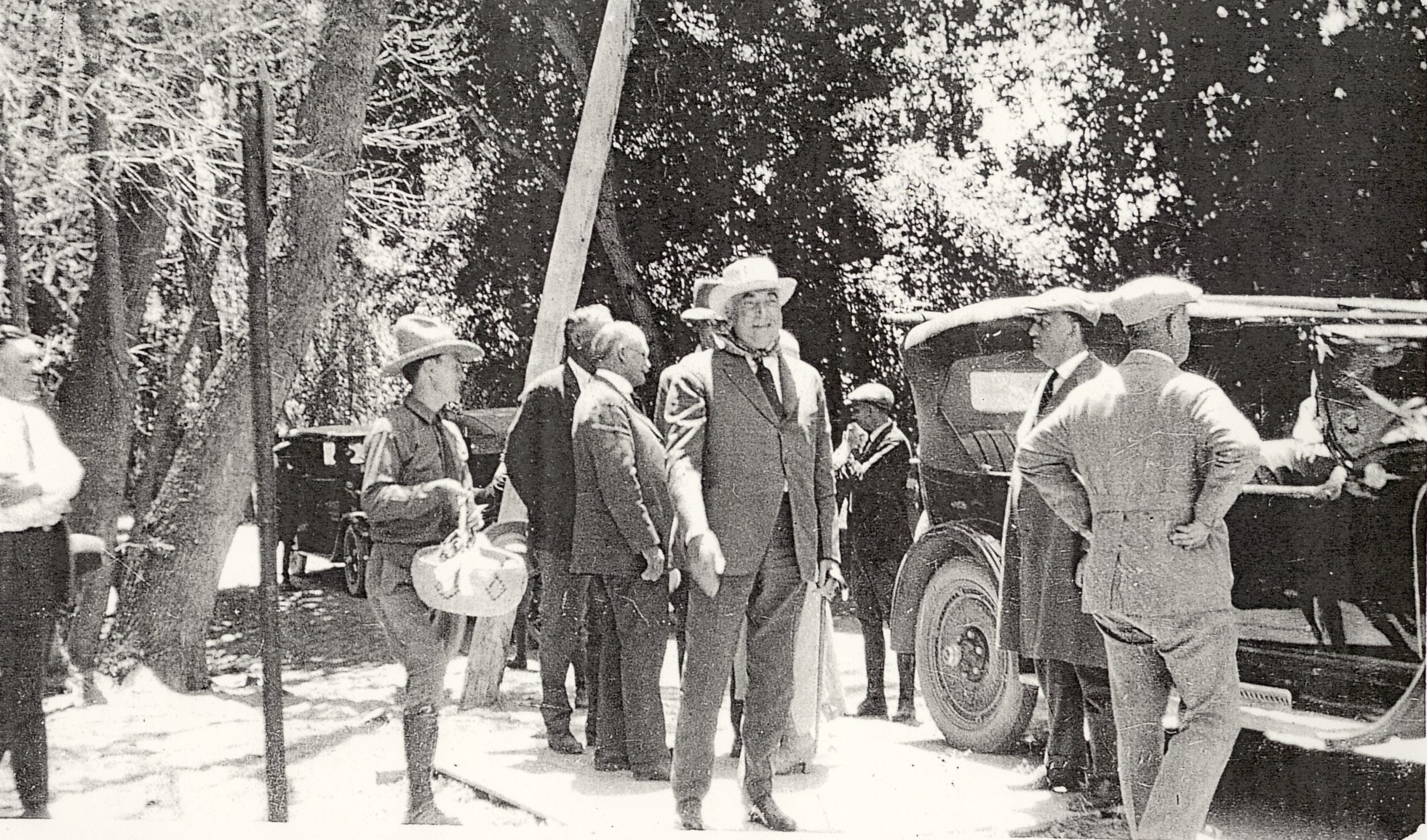 President Harding and his entourage arriving in Zion National Park