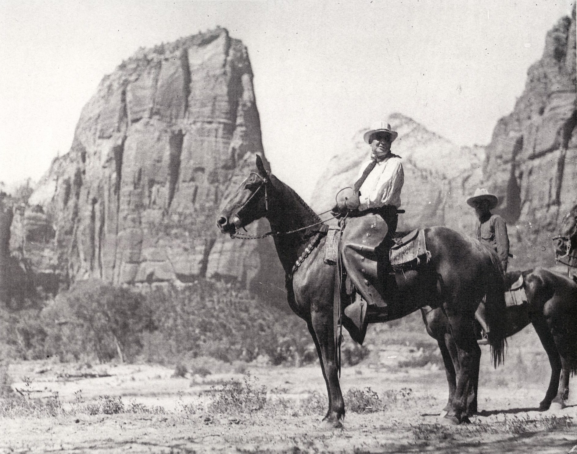 President Harding on horseback in Zion National Park
