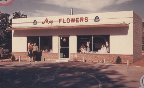 WCHS-02505   The May Flowers shop after opening