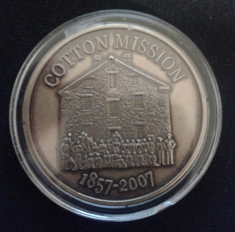 Back of the Washington City 150th year commemorative coin