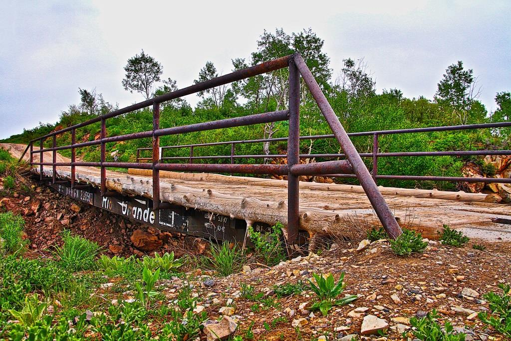 Kolob Reservoir Flatcar Bridge