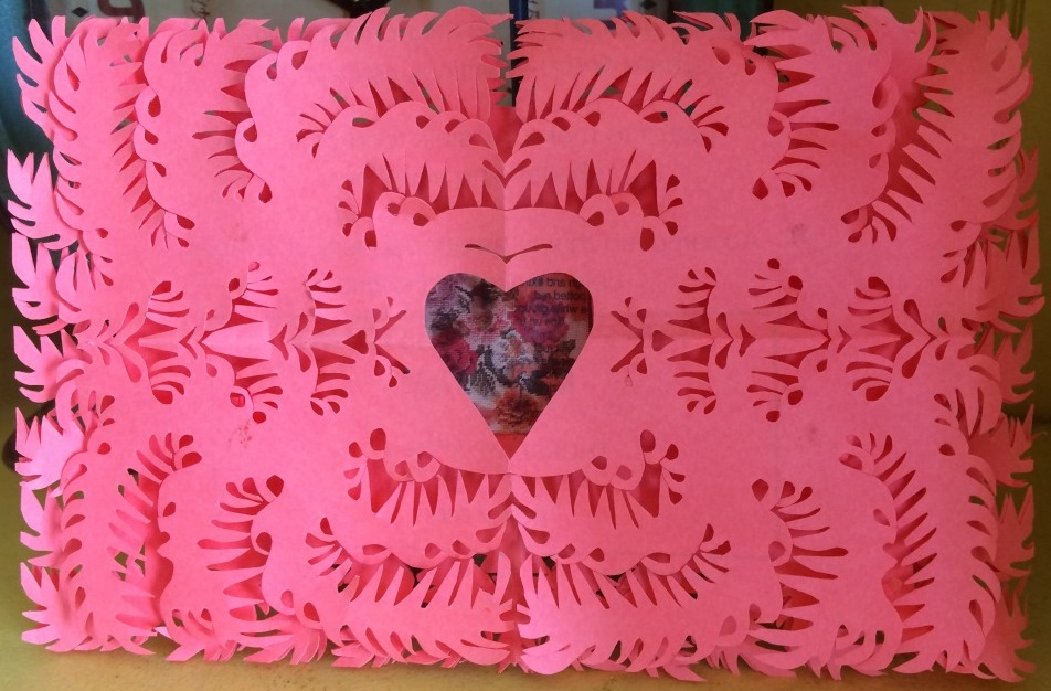 An example of Swiss paper cutting: A Valentine