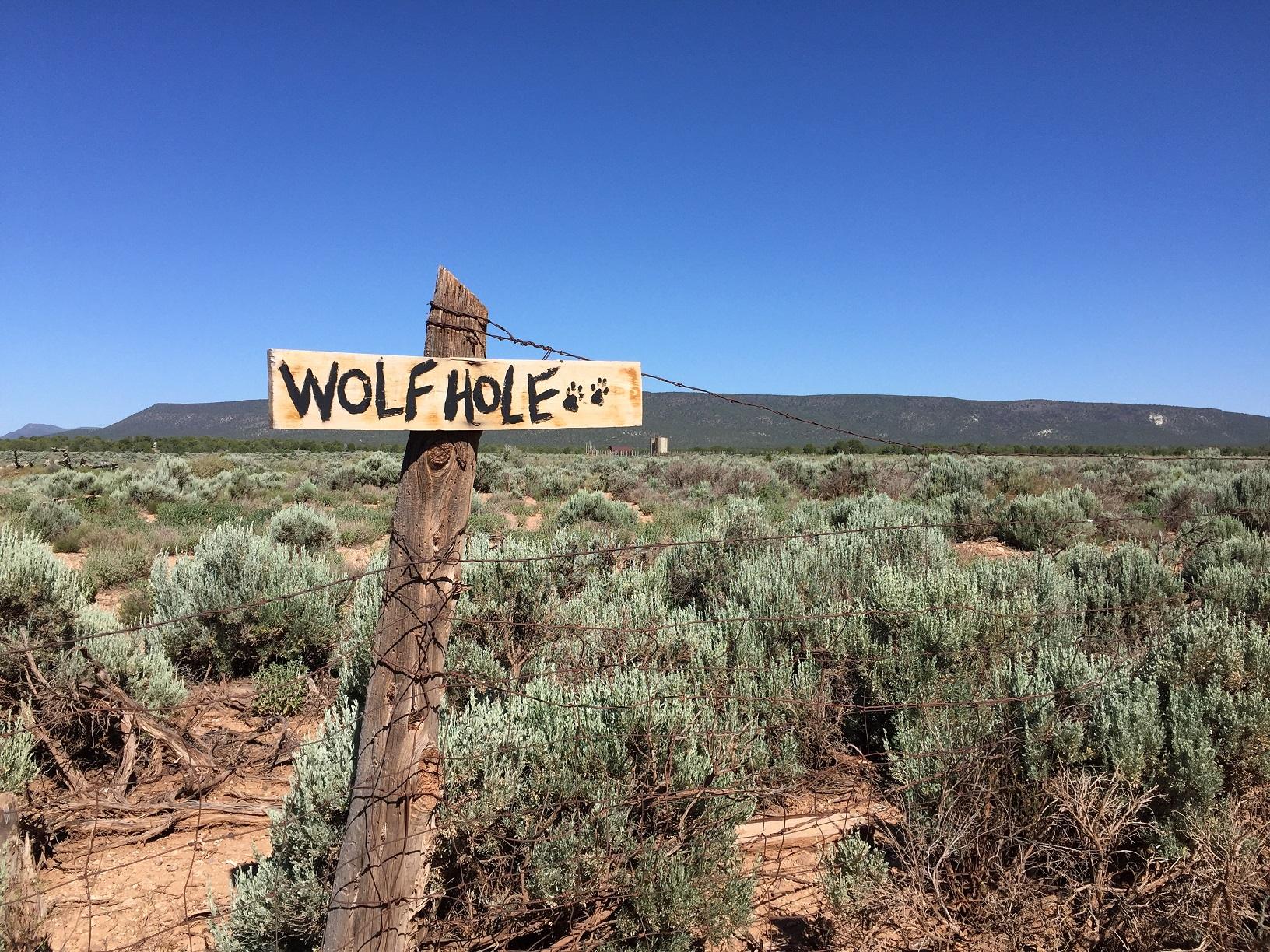 Wolf Hole Sign