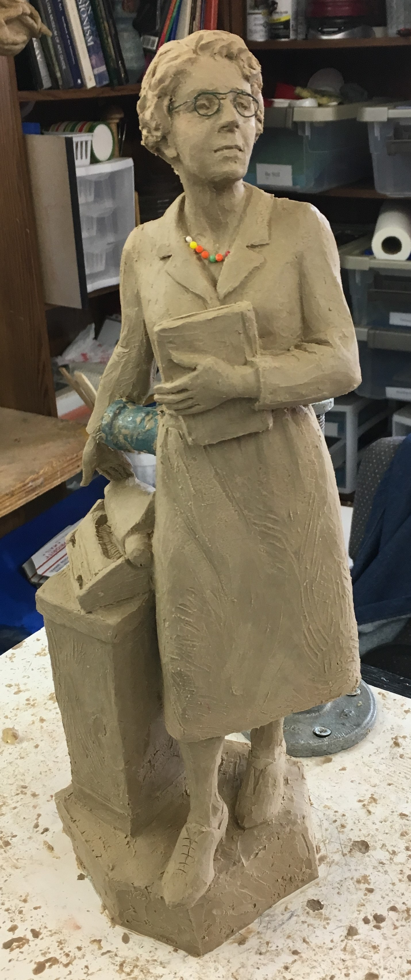 Preliminary model of the Juanita Brooks Statue