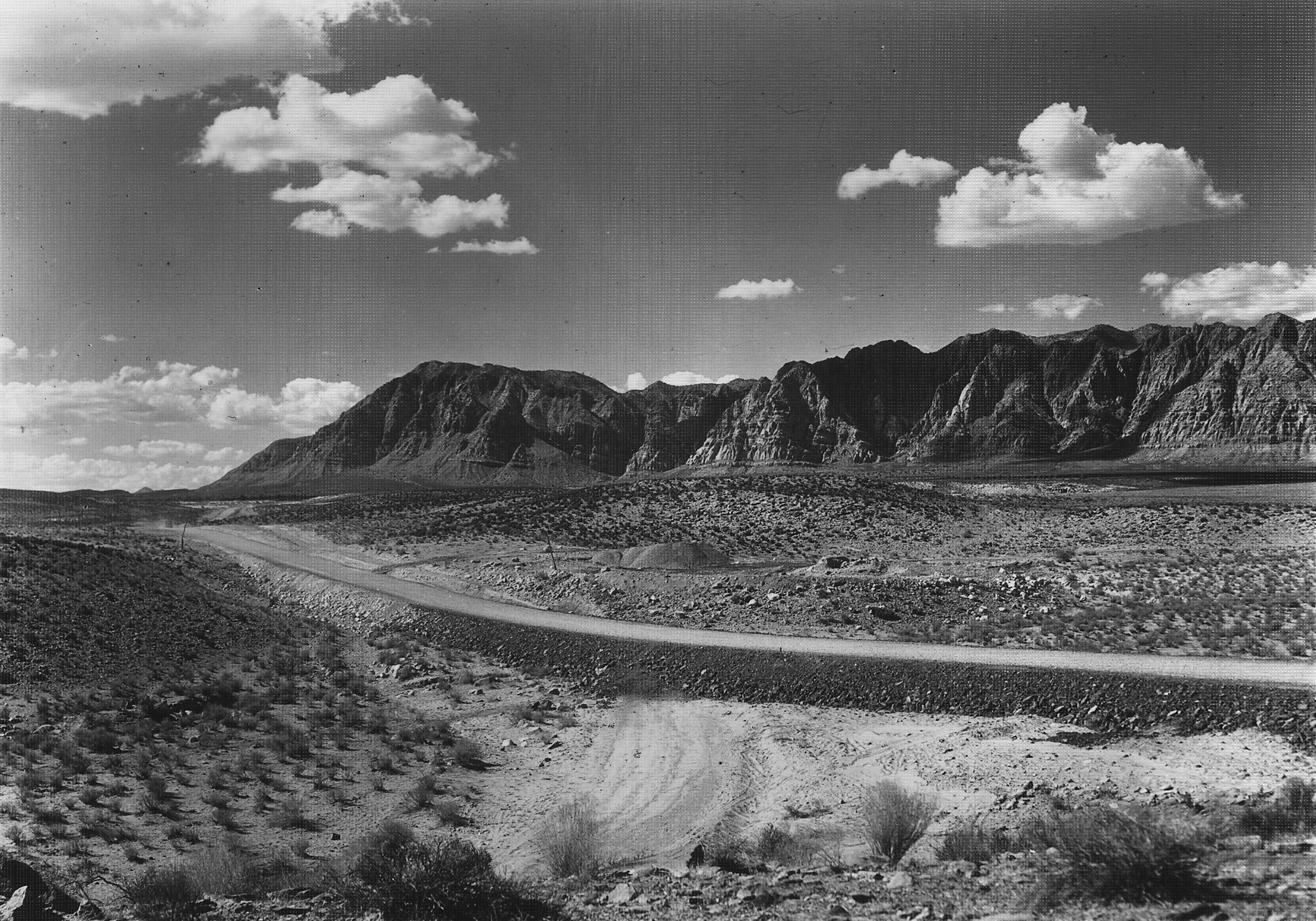 Highway 91 about 5 miles west of Santa Clara in 1929